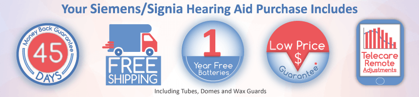 What's included with Siemens / Signia Hearing Aids from Precise Hearing